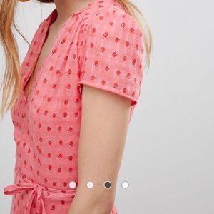 Glamorous Dresses - Mini Tea Dress With Tie Waist In Ditsy Rose